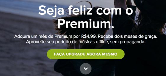 Spotify - 3 meses por R$4,99